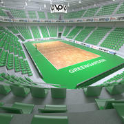 Volleyball arena 3d model