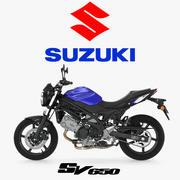 Уличный мотоцикл Suzuki SV650 3D Модель 3d model