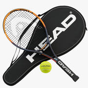 Raquete de tênis Head IG Challenge, Cover e Ball 3d model