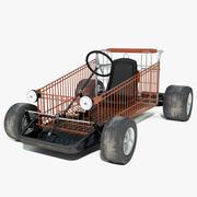 Shopping Go Kart 3d model