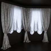 Rideaux pour la baie vitrée 3d model