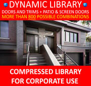 Dynamic library + EXTERIOR DOORS + extras 3d model