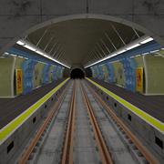 Metrostation Parijs 3d model