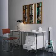 cadeira mesa coleções de guitarra 3d model