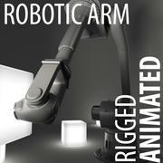 Braço robótico (mão robô animada) 3d model