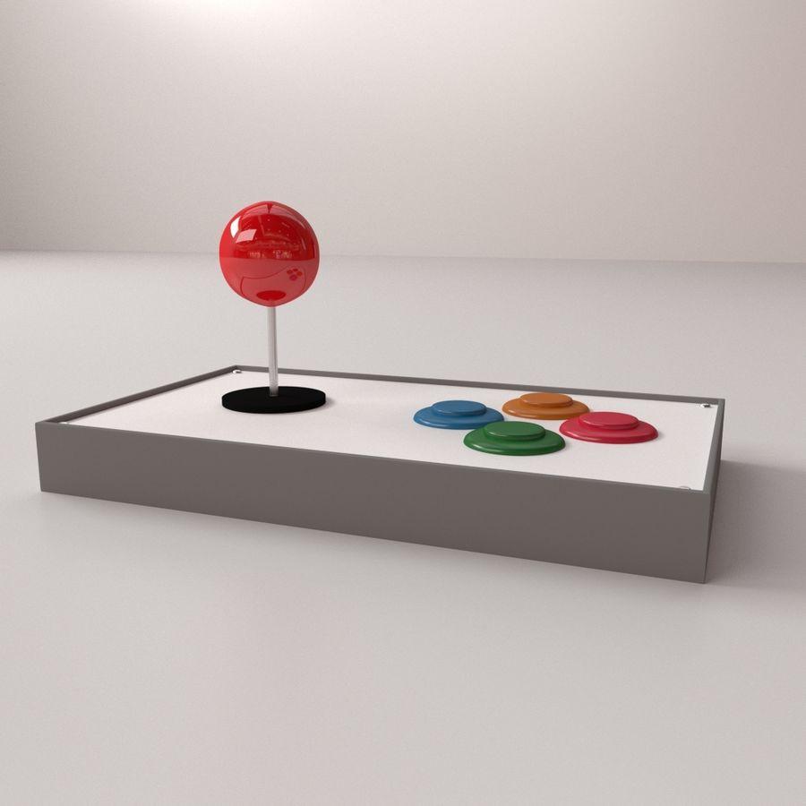 Joystick arcade royalty-free 3d model - Preview no. 2