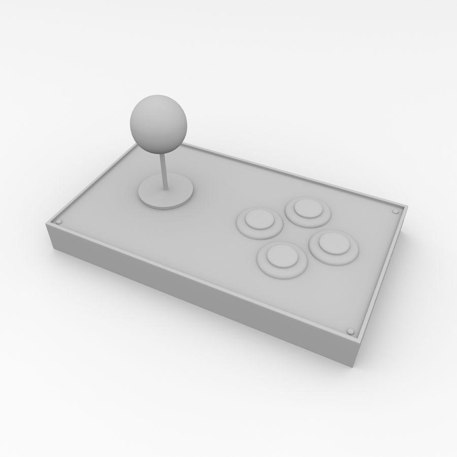 Joystick arcade royalty-free 3d model - Preview no. 4
