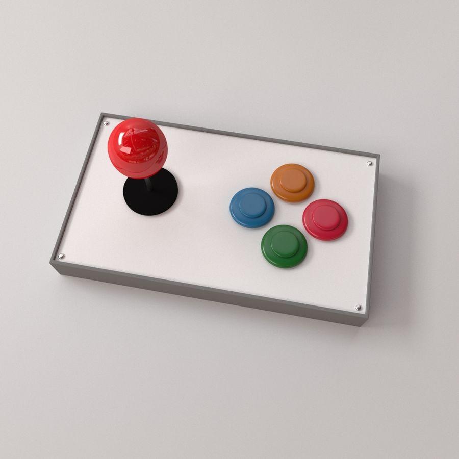 Joystick arcade royalty-free 3d model - Preview no. 1