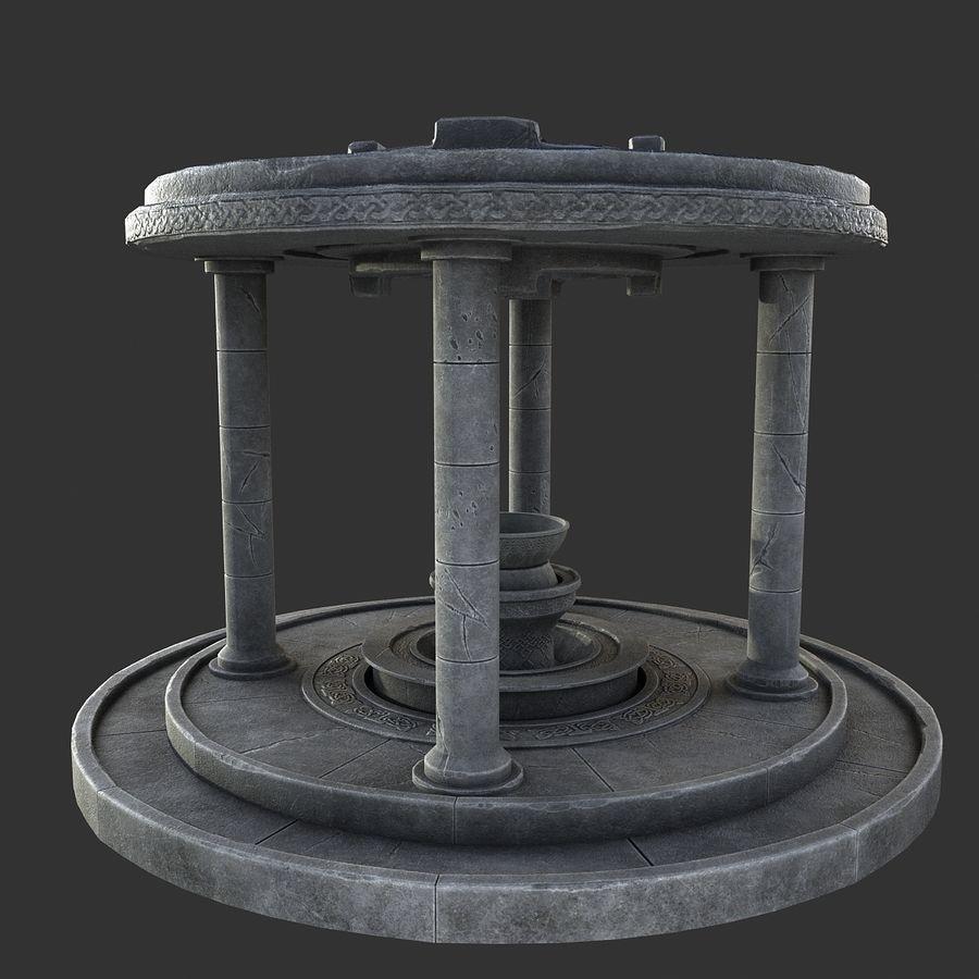 Altar Antiguo royalty-free modelo 3d - Preview no. 8