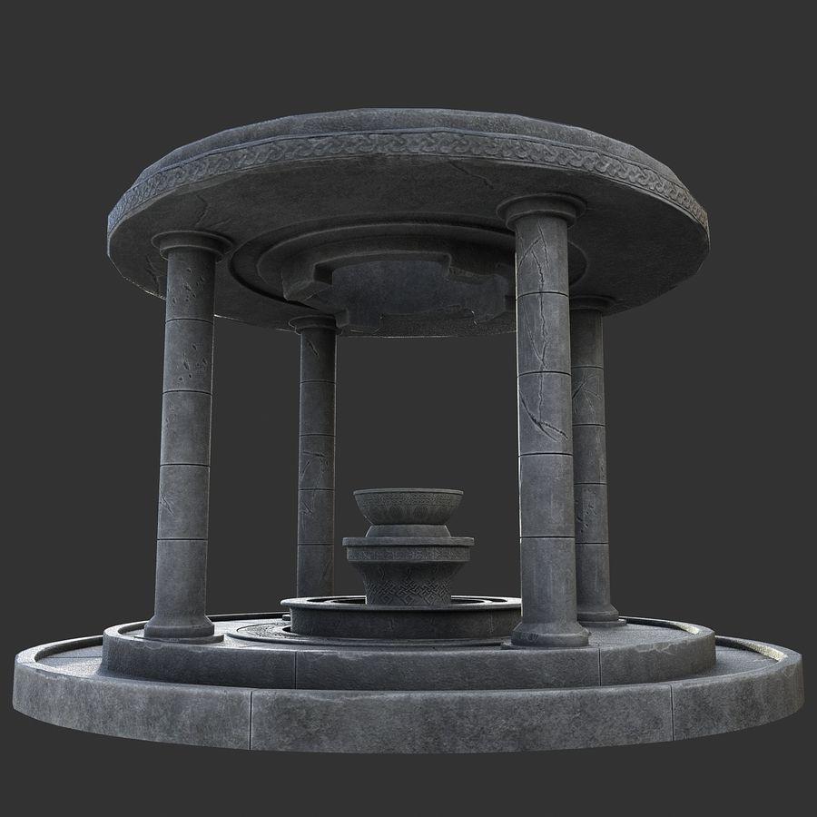 Altar Antiguo royalty-free modelo 3d - Preview no. 7