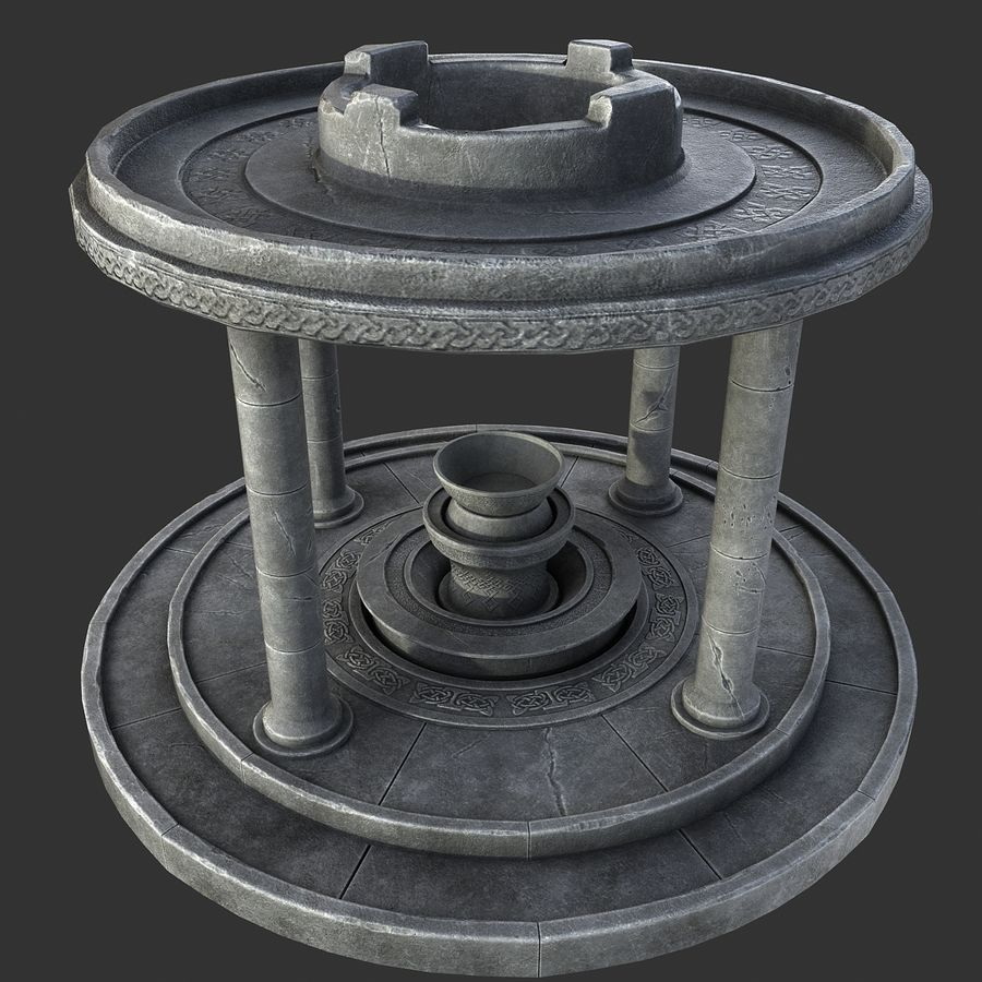 Altar Antiguo royalty-free modelo 3d - Preview no. 5