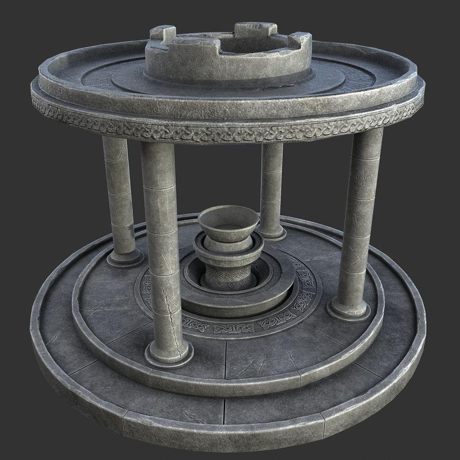 Altar Antiguo royalty-free modelo 3d - Preview no. 1