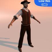 Ковбой (LowRes) 3d model