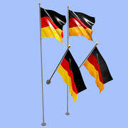 Deutschland Flagge 3d model