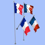 Bandeira da França 3d model