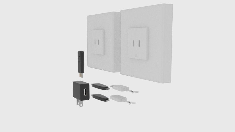 USB-Ladegerät-Komponente royalty-free 3d model - Preview no. 2