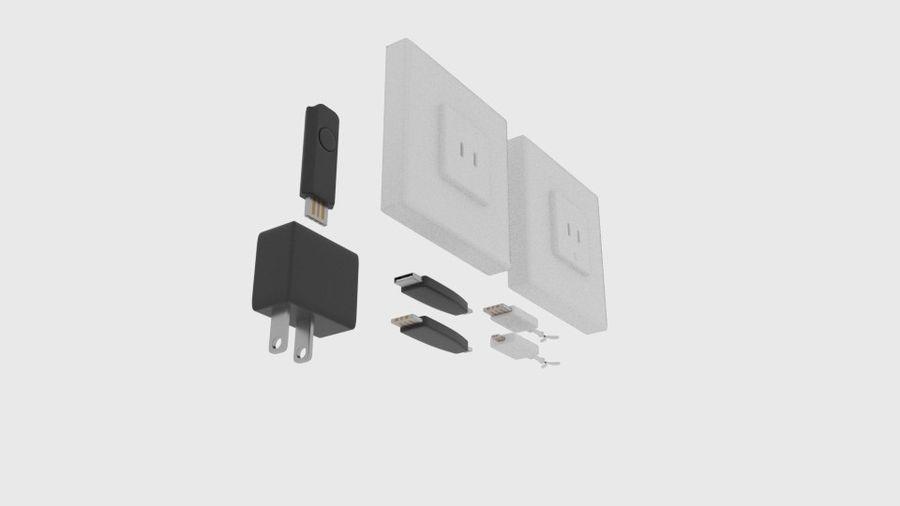 USB-Ladegerät-Komponente royalty-free 3d model - Preview no. 4