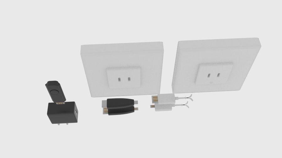 USB-Ladegerät-Komponente royalty-free 3d model - Preview no. 3