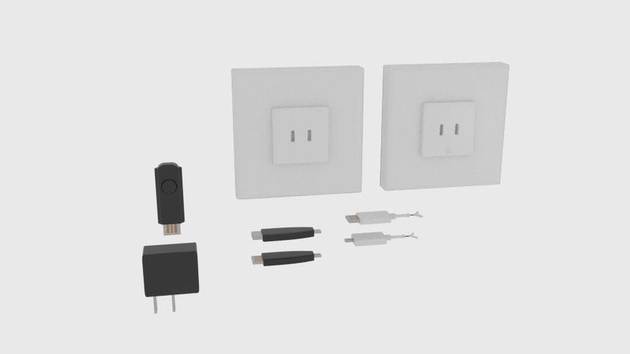 USB-Ladegerät-Komponente royalty-free 3d model - Preview no. 1