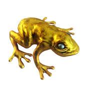 Złota żaba 3d model