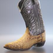 牛仔靴 3d model