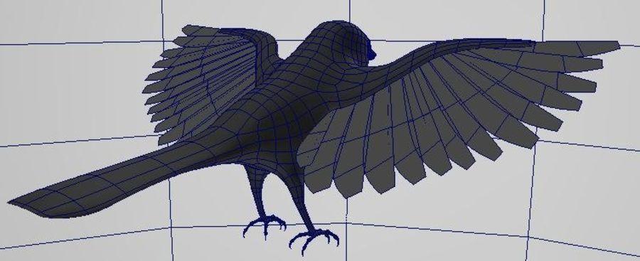 基本的な鳥 royalty-free 3d model - Preview no. 6