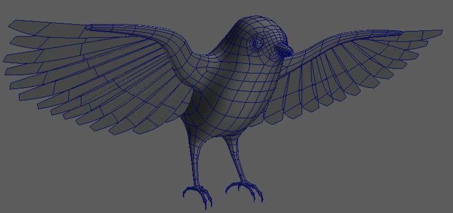 基本的な鳥 royalty-free 3d model - Preview no. 2
