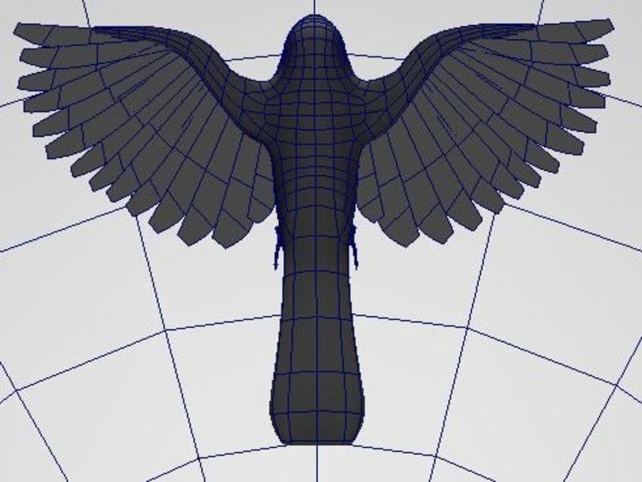 基本的な鳥 royalty-free 3d model - Preview no. 10