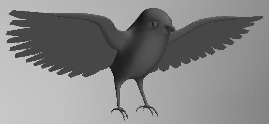 基本的な鳥 royalty-free 3d model - Preview no. 1