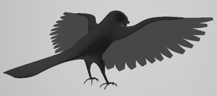 基本的な鳥 royalty-free 3d model - Preview no. 5