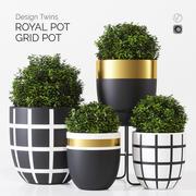 Designtwins potten en 3d model
