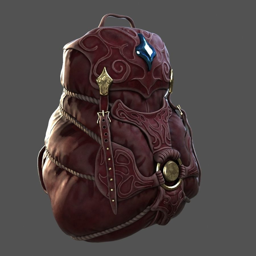 Backpack model royalty-free 3d model - Preview no. 5