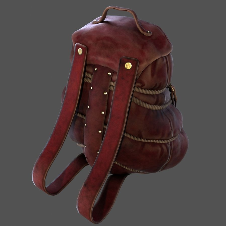 Backpack model royalty-free 3d model - Preview no. 3
