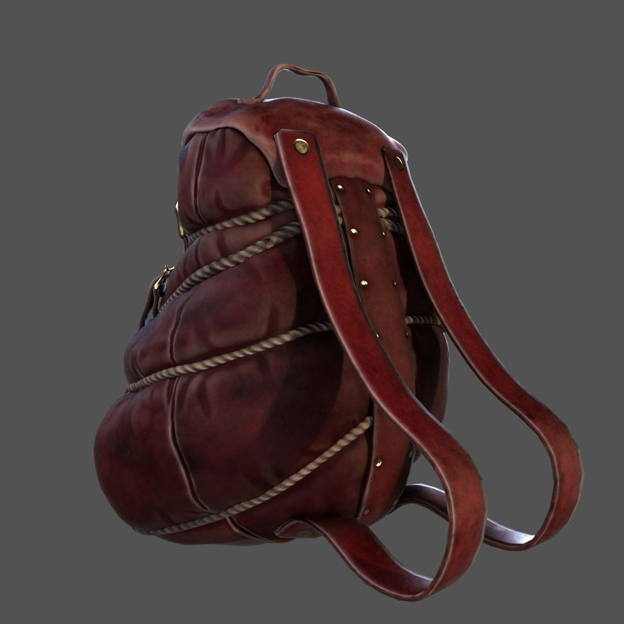 Backpack model royalty-free 3d model - Preview no. 2