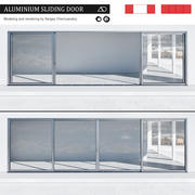 Aluminium sliding door 3d model