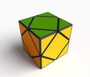 Rare Skewb cube puzzle 3d model