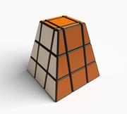 Original pyramid cube puzzle toy 3d model