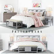 Pottery Barn Clara Lattice Bedroom set 3d model