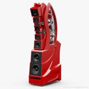 Уилсон Аудио WAMM Мастер Хронозон Имола Ред 3d model