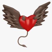 Coração diabo 3d model