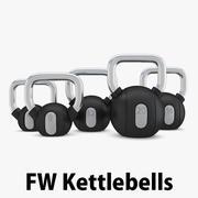 Technogym - Kettlebells de poids libre 3d model