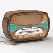 rádio de mesa 3d model