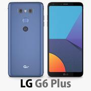 LG G6 Plus (G6 +) Blu 3d model