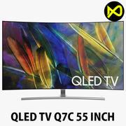 Samsung Q7C 55 inç Kavisli QLED 4K TV 3d model