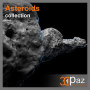 Asteroids - Collection 3d model