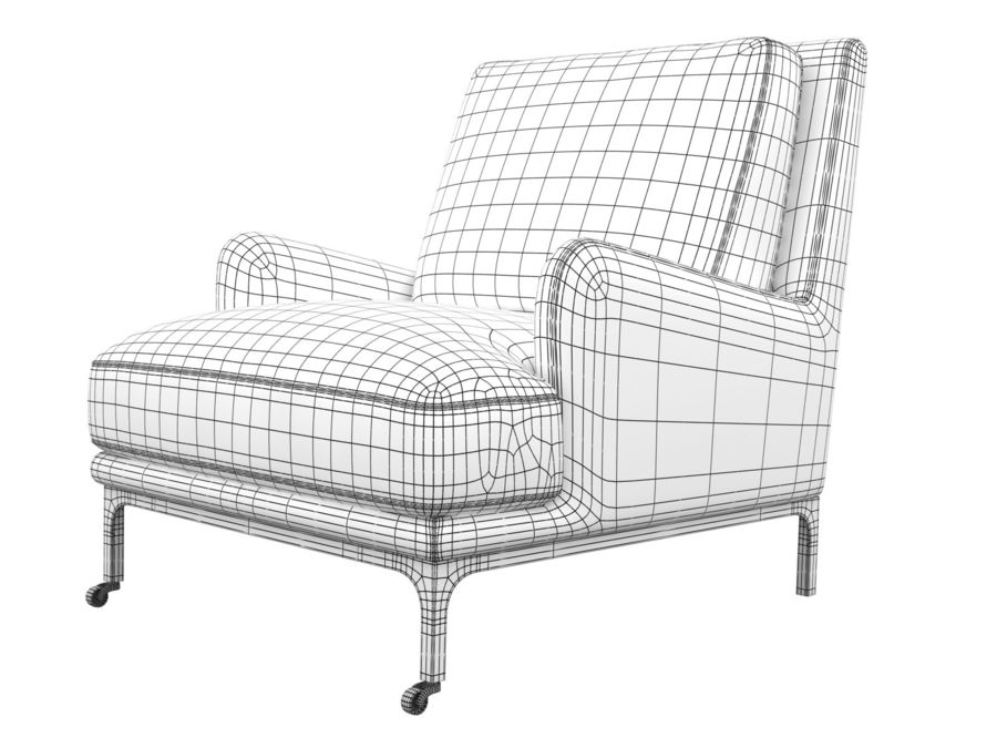 Mr.Jones 라운지 의자 royalty-free 3d model - Preview no. 4