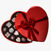 Candy Heart Box 3d model