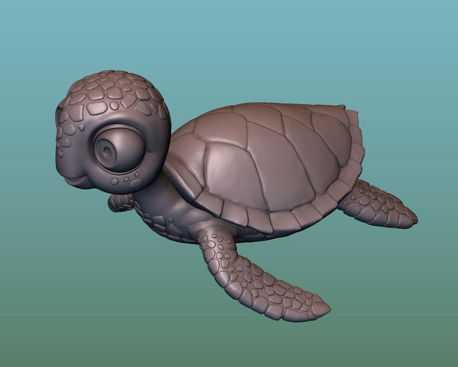 海龟(绿海龟(可进行3D打印)) royalty-free 3d model - Preview no. 9
