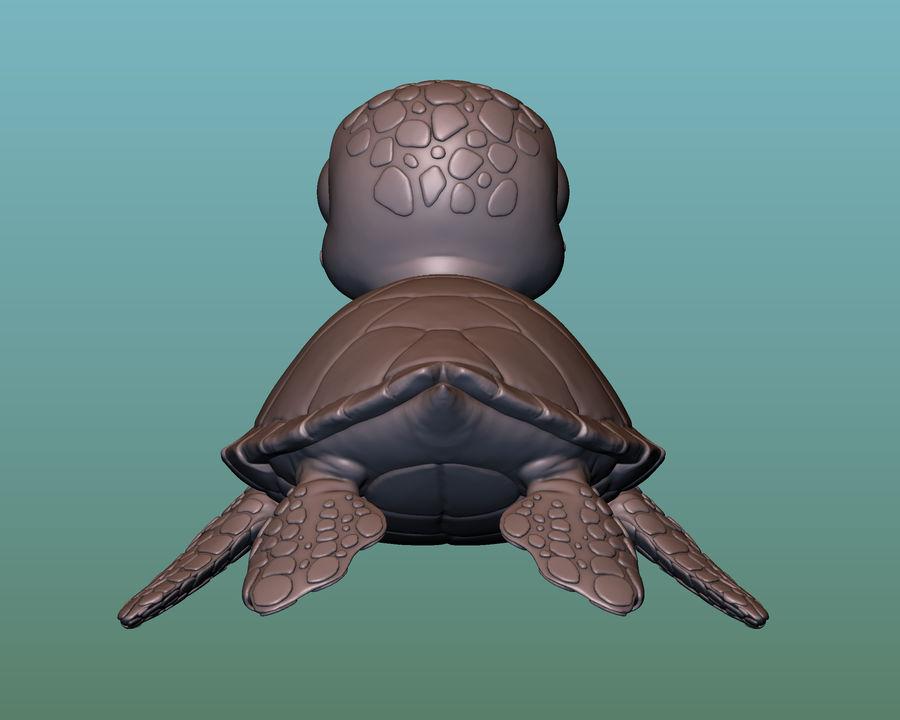 海龟(绿海龟(可进行3D打印)) royalty-free 3d model - Preview no. 5