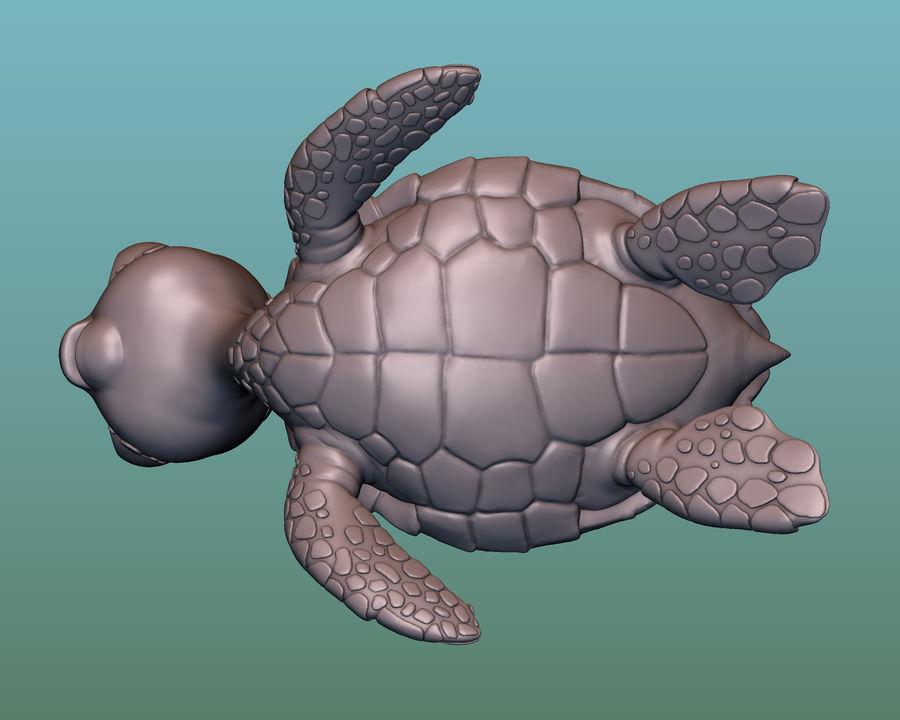 海龟(绿海龟(可进行3D打印)) royalty-free 3d model - Preview no. 7